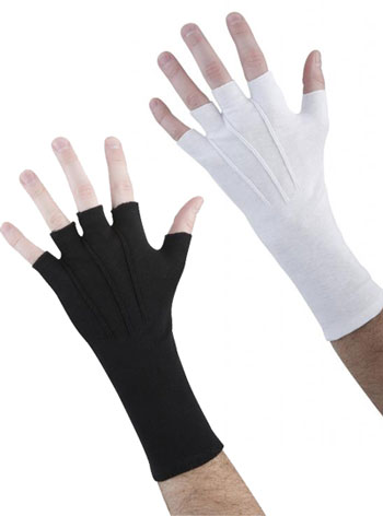 GLOVES COTTON LONG WRISTED FINGERLESS