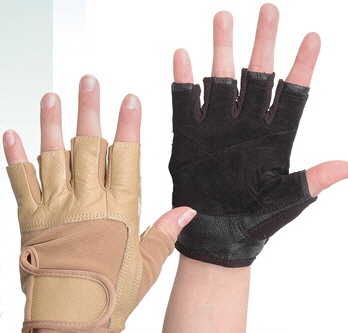 COLOR GUARD GLOVES TALON FINGERLESS NUDE BLACK