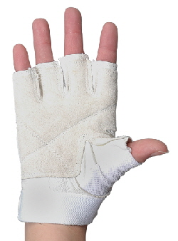 COLORGUARD GLOVES TALON FINGERLESS WHITE