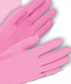 Glove-pink-cotton